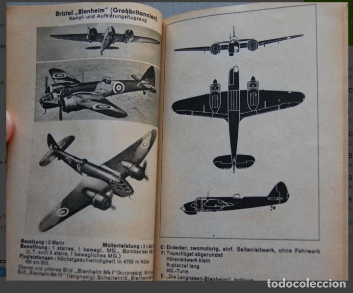 Militaria: ALEMANIA AÑO 1934. LUFTWAFFE. DESCRIPCION AVIONES DE COMBATE. MPRESIONANTE LIBRO DE COLECCIÓN. - Foto 13 - 146790502