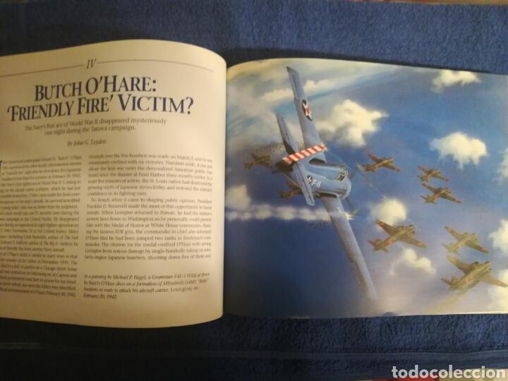 Militaria: Libro sobre los aviones y sus misiones en la Segunda Guerra Mundial.Ilustraciones y fotos aereas. - Foto 4 - 147762945