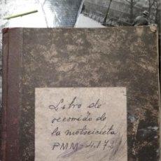 Militaria: CUADERNO DE RECORRIDO DE LA MOTOCICLETA PMM 4172 TRAFICO AÑOS 40 VER FOTOS. Lote 147948350