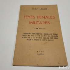 Militaria: 119- LEYES PENALES MILITARES APÉNDICE 1949. Lote 148041474