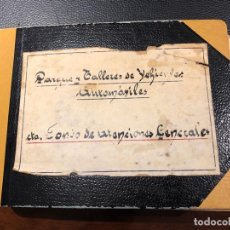 Militaria: LIBRO ARQUEO SALDO FONDO ATENCIONES GENERALES EN BANCO DE ESPAÑA, PARQUE Y TALLERES DE VEHÍCULOS. Lote 148090118