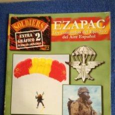 Militaria: MONOGRAFICO SOBRE LA EZAPAC,LA UNIDAD DE COMANDOS DEL EJERCITO DEL AIRE ESPAÑOL.REVISTA SOLDIERS.. Lote 149746890
