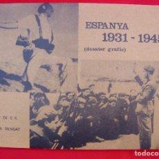 Militaria: ESPANYA 1931-1945 DOSSIER GRÁFICO EN CATALÁN . Lote 149836990