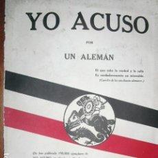 Militaria: 1916 YO ACUSO POR UN ALEMAN I GUERRA MUNDIAL. Lote 149859486