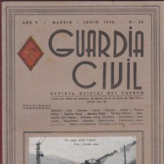 Militaria: REVISTA OFICIAL GUARDIA CIVIL JUNIO 1948 N.50. Lote 150062570