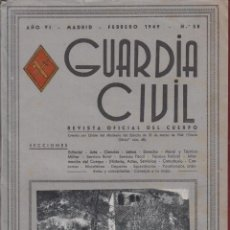 Militaria: REVISTA OFICIAL DE LA GUARDIA CIVIL FEBRERO 1949 N.58. Lote 150065422