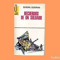 Militaria: LIBRO: RECUERDOS DE UN SOLDADO DEL GENERAL GUDERIAN (USADO). Lote 150193166