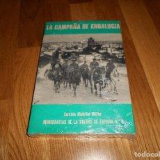 Militaria: LA CAMPAÑA DE ANDALUCIA SERVICIO HISTÓRICO MILITAR MONOGRAFÍAS GUERRA CIVIL Nº 3 PERFECTO. Lote 194501556