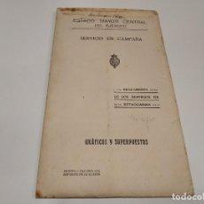 Militaria: 219-SERVICIO EN CAMPAÑA- REGLAMENTO DE LOS SERVIVIOS DE RETAGUARDIA- GRÁFICOS Y SUPERPUESTOS.. Lote 150984534