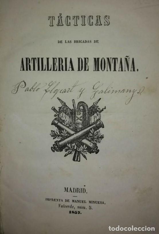 1837 TÁCTICAS DE LAS BRIGADAS DE ARTILLERÍA DE MONTAÑA. LIBROS MILITARES (Militar - Libros y Literatura Militar)