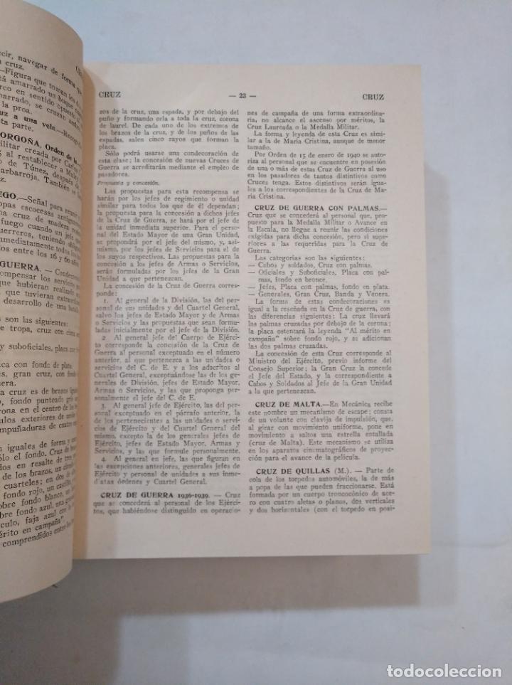 Militaria: DICCIONARIO ENCICLOPEDICO DE LA GUERRA. TOMO VOLUMEN Nº 5. V. EDITORIAL GESTA. G. LOPEZ MUÑIZ TDK366 - Foto 5 - 151383750