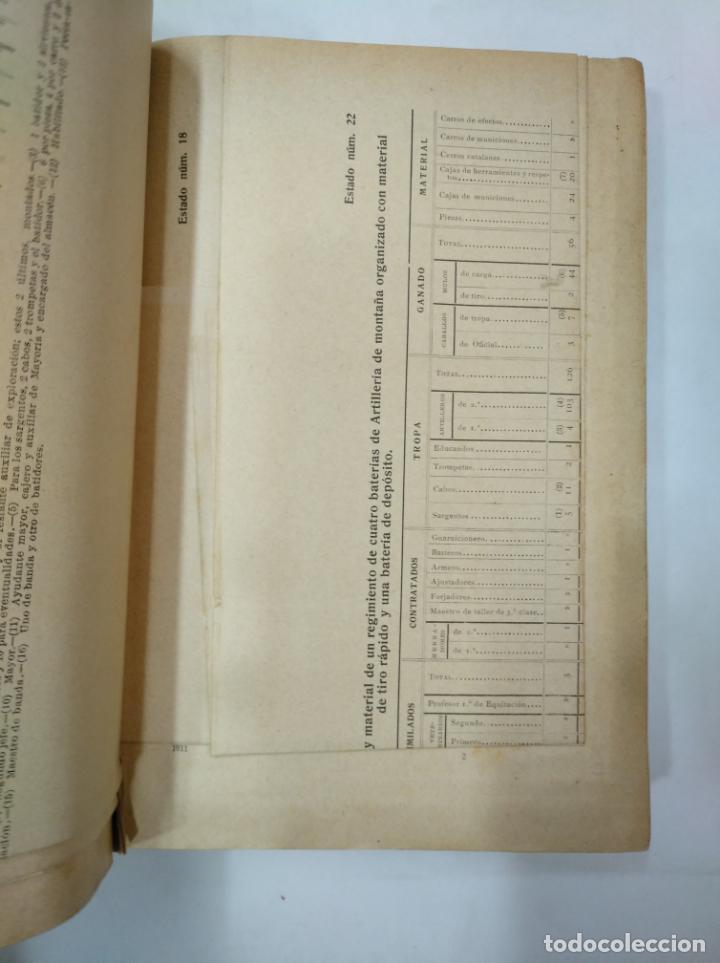 Militaria: COLECCION LEGISLATIVA DEL EJERCITO. AÑO 1911. MINISTERIO DE LA GUERRA. MADRID. TDK366 - Foto 3 - 151389598