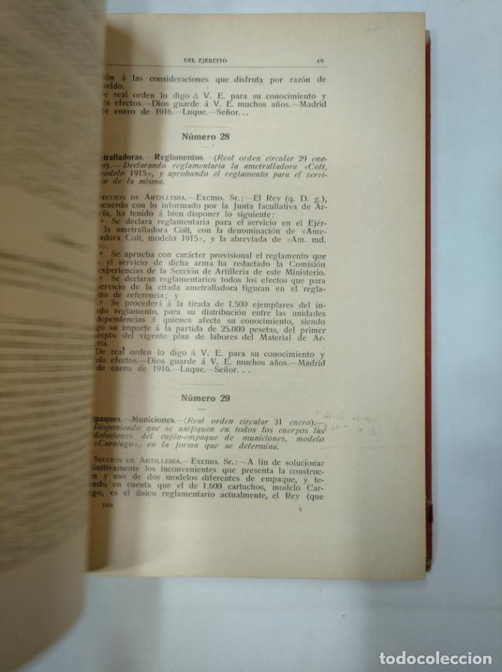 Militaria: COLECCION LEGISLATIVA DEL EJERCITO. AÑO 1916. MINISTERIO DE LA GUERRA. MADRID. TDK366 - Foto 4 - 151389866