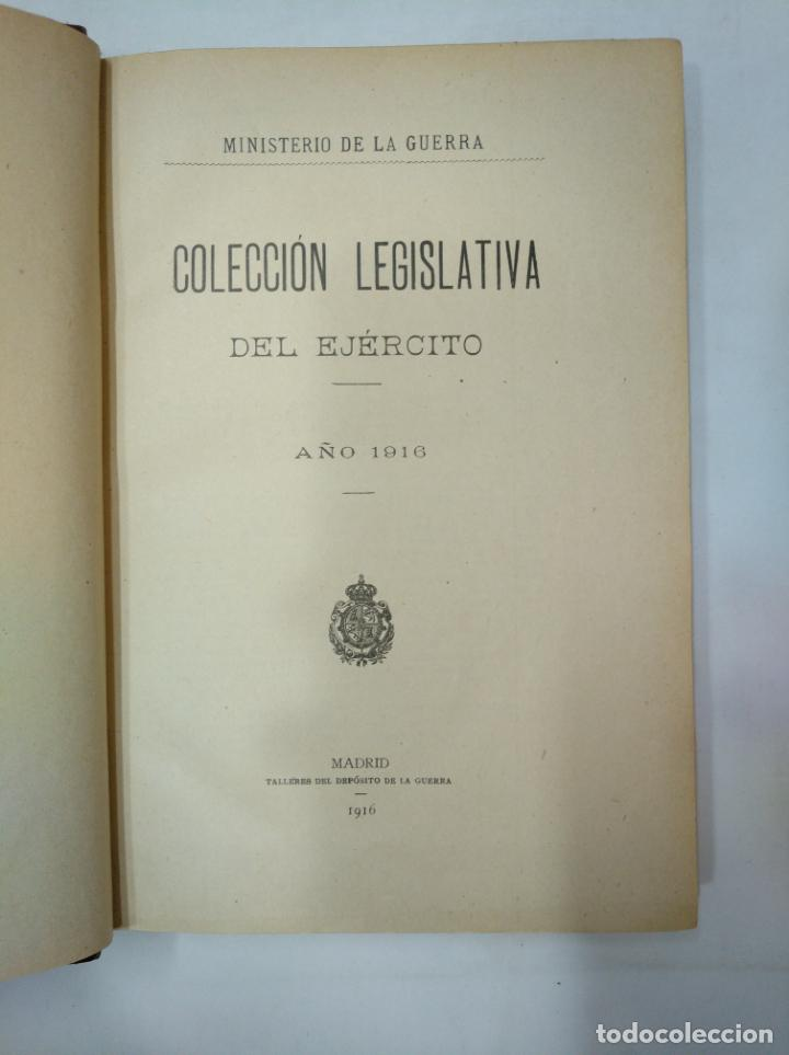 Militaria: COLECCION LEGISLATIVA DEL EJERCITO. AÑO 1916. MINISTERIO DE LA GUERRA. MADRID. TDK366 - Foto 5 - 151389866