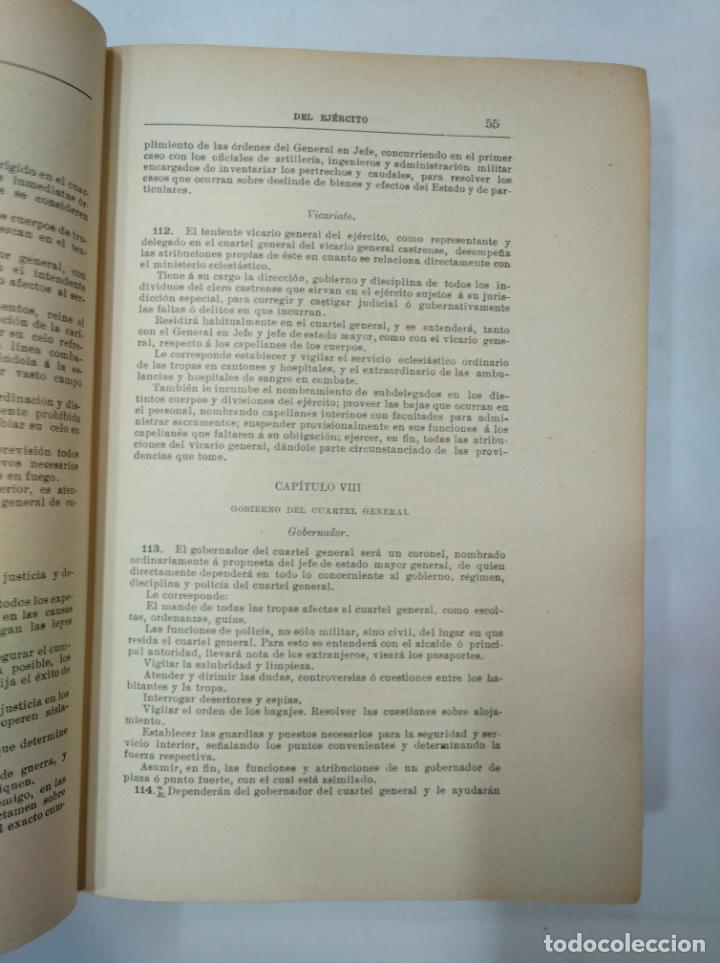 Militaria: COLECCION LEGISLATIVA DEL EJERCITO. AÑO 1882. MINISTERIO DE LA GUERRA. MADRID. TDK366 - Foto 2 - 151390062