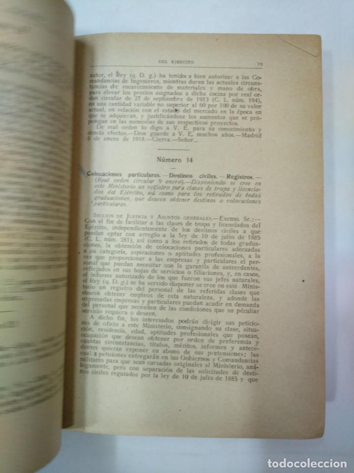 Militaria: COLECCION LEGISLATIVA DEL EJERCITO. AÑO 1918. MINISTERIO DE LA GUERRA. MADRID. TDK366 - Foto 3 - 151390246