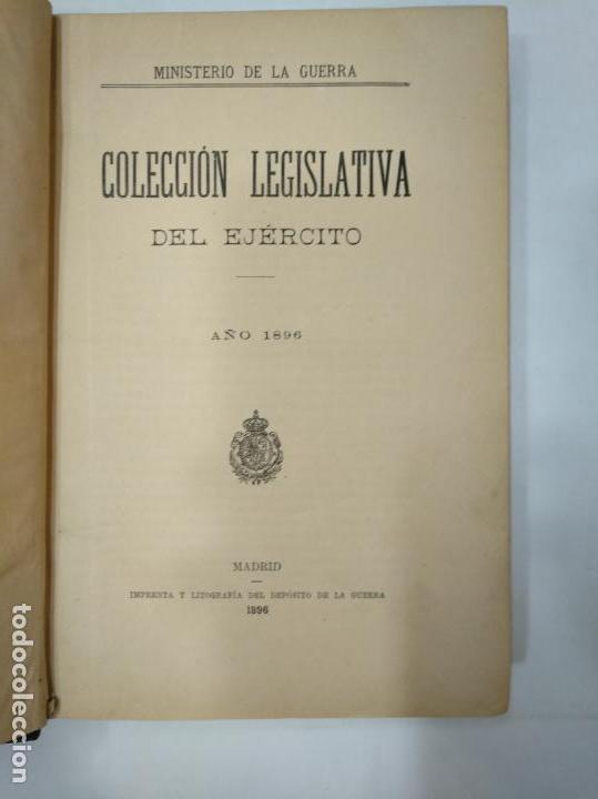 Militaria: COLECCION LEGISLATIVA DEL EJERCITO. AÑO 1896. MINISTERIO DE LA GUERRA. MADRID. TDK366 - Foto 2 - 151390398