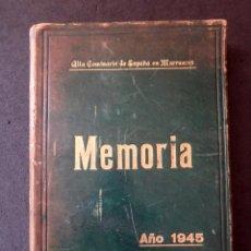 Militaria: (JX-190283)ALTA COMISARIA DE ESPAÑA EN MARRUECOS , MEMORIA , AÑO 1945 , 472 PAG.. Lote 151491442
