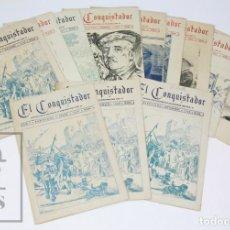 Militaria: 13 NÚMEROS DE EL CONQUISTADOR, 1948-1949 - REGIMIENTO DE INFANTERÍA JAÉN NÚM. 25 - FRANCISCO FRANCO . Lote 151939946