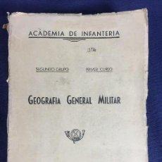 Militaria: GEOGRAFÍA GENERAL MILITAR ACADEMIA DE INFANTERÍA TOLEDO PRIMER CURSO 1950. Lote 152157490
