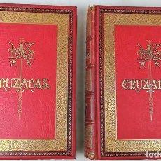 Militaria: 2 TOMOS LAS CRUZADAS. M. MICHAUD. EDITORES MONTANER Y SIMÓN. BARCELONA 1887.. Lote 152246530