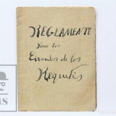 Militaria: PUBLICACIÓN REGLAMENTO PARA CÍRCULOS DE LOS REQUETÉS - CARLISMO - REQUETÉS DE CATALUÑA, 1918. Lote 152288298