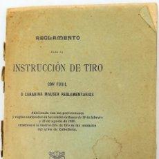 Militaria: REGLAMENTO.INSTRUCCIONES DE TIRO CON FUSIL. VV.AA. TALLERES DEL DEPÓSITO DE LA GUERRA. MADRID 1907. Lote 152442690