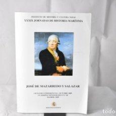 Militaria: JOSÉ DE MAZARREDO Y SALAZAR. INSTITUTO DE HISTORIA Y CULTURA NAVAL. Lote 152549742