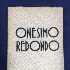 Militaria: ONESIMO REDONDO CAUDILLO DE CASTILLA EDICIONES LIBERTAD 1937 20X14CMS. Lote 152750910