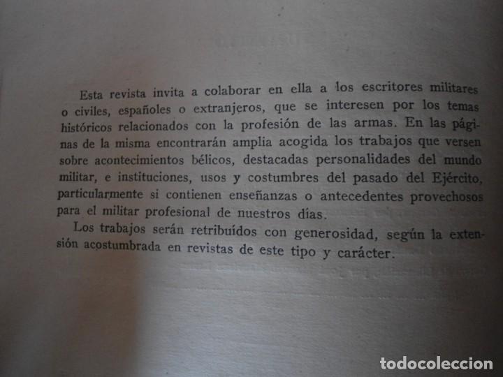 Militaria: LIBRO DE REVISTA DE HISTORIA MILITAR AÑO III 1959 Nº 5 - Foto 12 - 153384098