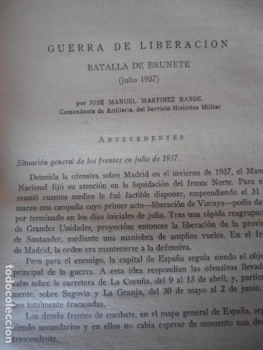 Militaria: LIBRO DE REVISTA DE HISTORIA MILITAR AÑO III 1959 Nº 5 - Foto 71 - 153384098