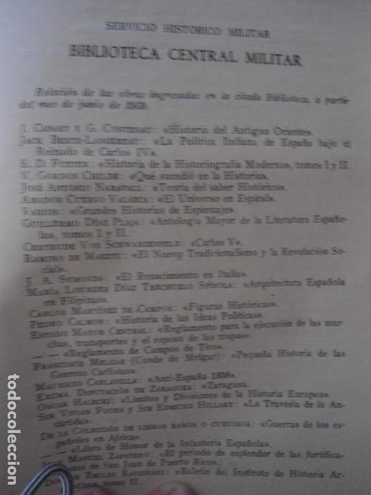 Militaria: LIBRO DE REVISTA DE HISTORIA MILITAR AÑO III 1959 Nº 5 - Foto 90 - 153384098
