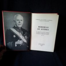 Militaria: ALMIRANTE JUAN CERVERA VALDERRAMA - MEMORIAS DE GUERRA - EDITORIAL NACIONAL 1968. Lote 153729374