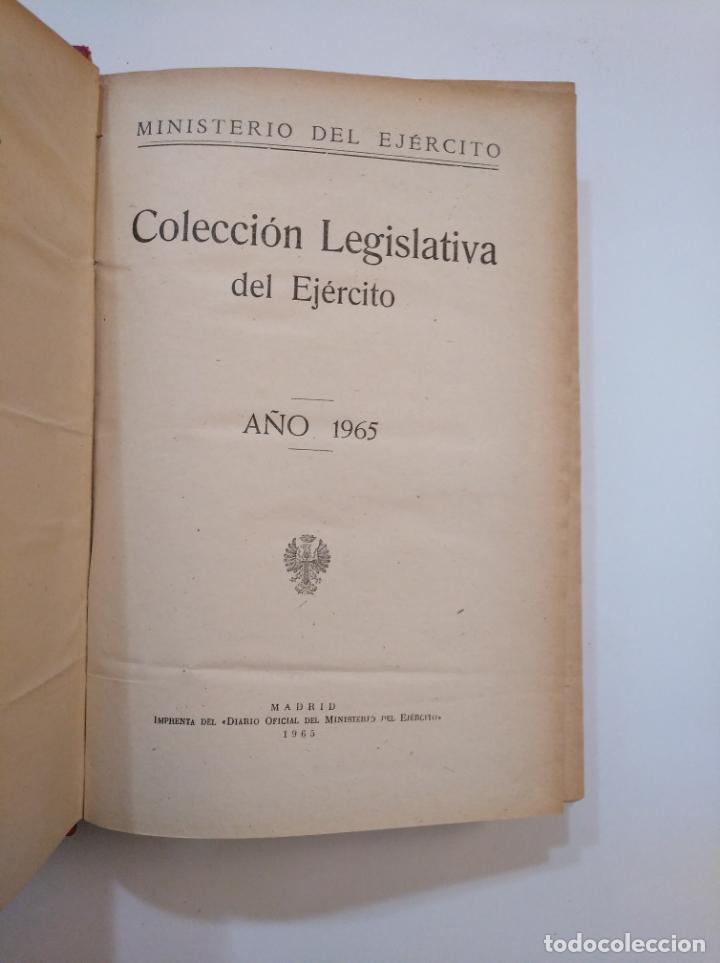 Militaria: COLECCION LEGISLATIVA DEL EJERCITO AÑO 1965. MINISTERIO DEL EJERCITO. TDK372 - Foto 2 - 154305970