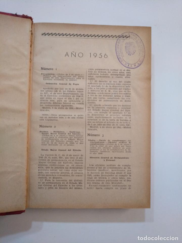 Militaria: COLECCION LEGISLATIVA DEL EJERCITO AÑO 1956. MINISTERIO DEL EJERCITO. TDK372 - Foto 2 - 154306058