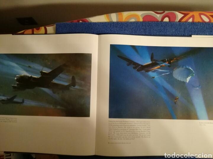 Militaria: Libro con ilustraciones y dibujos de aviones y combates de la Segunda Guerra Mundial.Frank Wootton - Foto 5 - 154334753