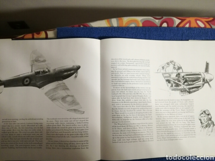 Militaria: Libro con ilustraciones y dibujos de aviones y combates de la Segunda Guerra Mundial.Frank Wootton - Foto 6 - 154334753