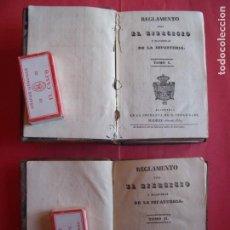 Militaria: REGLAMENTO PARA EL EJERCITO Y MANIOBRAS DE LA INFANTERIA.-MILITAR.-INFANTERIA.-GRABADOS.-RARO.-1837.. Lote 154969146