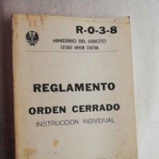 Militaria: EJERCITO ESPAÑOL - REGLAMENTO INSTRUCCIÓN INDIVIDUAL RO38. Lote 155189698
