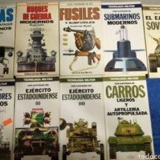Militaria: LOTE DE 9 LIBROS DE TANQUES,BARCOS,AVIONES Y ARMAS DE EDITORIAL SAN MARTIN.SEGUNDA GUERRA MUNDIAL.. Lote 155871458