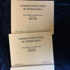Militaria: MODELOS PORTATILES DE RETROCARGA 1855 - 1922 JUAN L. CALVO - LAMINAS DESPLEGABLES. Lote 155927790