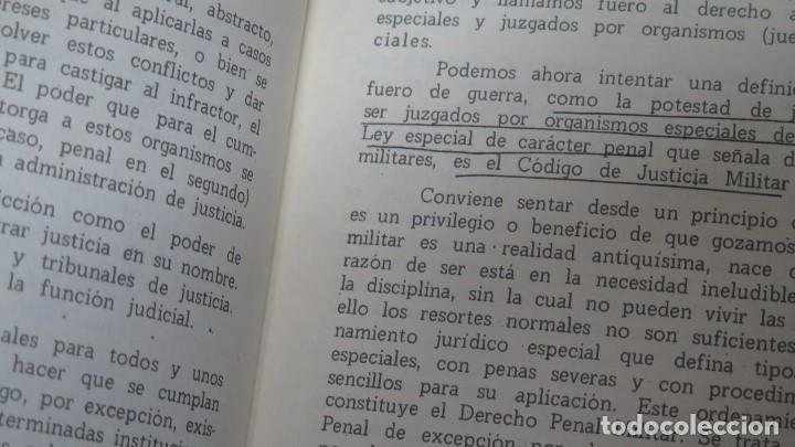 Militaria: APUNTES DE DERECHO PENAL MILITAR. PREPARACION HUMANISTICA. ACADEMIA GENERAL MILITAR - Foto 2 - 155996294
