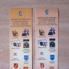 Militaria: SEPARADORES DE LIBROS DEL INSTITUTO DE HISTORIA Y CULTURA MILITAR. Lote 156823226