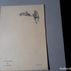 Militaria: LITOGRAFIAS DE JOSE LUIS ROMÁN. Lote 157942958