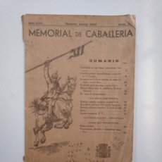 Militaria: MEMORIAL DE CABALLERIA. AÑO XVIII. MADRID ENERO 1933. TDK378. Lote 158360170