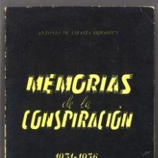 Militaria: MEMORIAS DE LA CONSPIRACIÓN 1931-1936. ANTONIO DE LIZARZA. REQUETÉ. Lote 158584786
