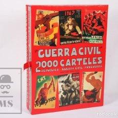 Militaria: 2 LIBROS GRAN FORMATO. LA GUERRA CIVIL EN 2000 CARTELES - G.C., REPÚBLICA, POSGUERRA - POSTERMIL. Lote 158694290