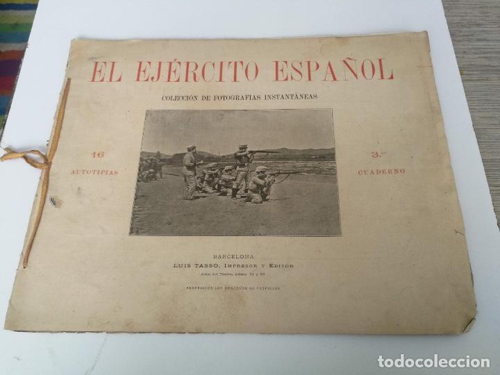ANTIGUO Y PRECIOSAS 16 AUTOTIPIAS DEL EJERCITO ESPAÑOL - 3ER CUADERNO - COLECCION DE FOTOGRAFIAS INS (Militar - Libros y Literatura Militar)