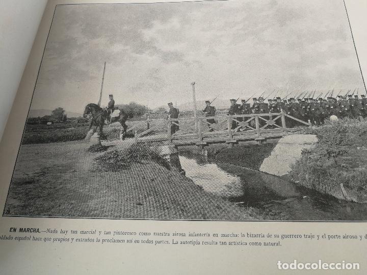 Militaria: ANTIGUO Y PRECIOSAS 16 AUTOTIPIAS DEL EJERCITO ESPAÑOL - 3er CUADERNO - COLECCION DE FOTOGRAFIAS INS - Foto 4 - 158944754