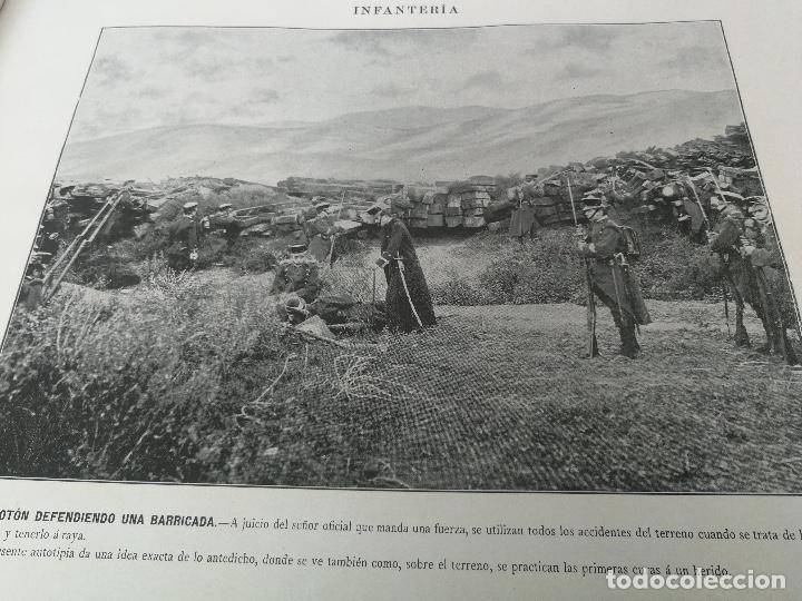 Militaria: ANTIGUO Y PRECIOSAS 16 AUTOTIPIAS DEL EJERCITO ESPAÑOL - 3er CUADERNO - COLECCION DE FOTOGRAFIAS INS - Foto 6 - 158944754